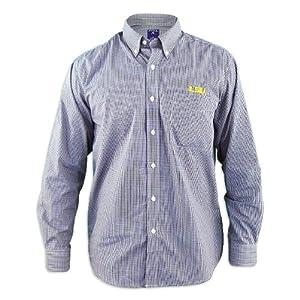 LSU Tigers Focus Purple Buttondown Long Sleeve Shirt by Antigua