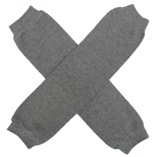 Super Solids - Solid Color Leg Warmers - One Size - Baby, Toddler, Boy, Girl (Gray)