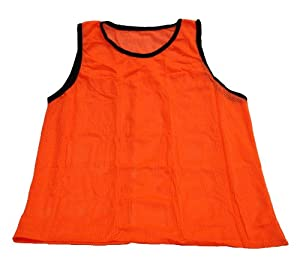 Set of 12 - Extra Large Workoutz Scrimmage Vests (Orange) Soccer Pinnies Training by Workoutz