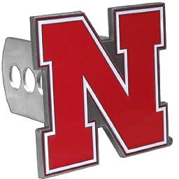 NCAA Nebraska Cornhuskers Trailer Hitch Cover, Class II & III