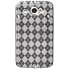 Amzer AMZ91683 Luxe Argyle High Gloss TPU Soft Gel Skin Case For HTC ChaCha (Clear)