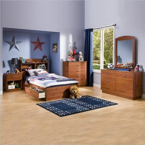 Kids Pine Wood Captain's Storage Bed 5 Piece Bedroom Set
