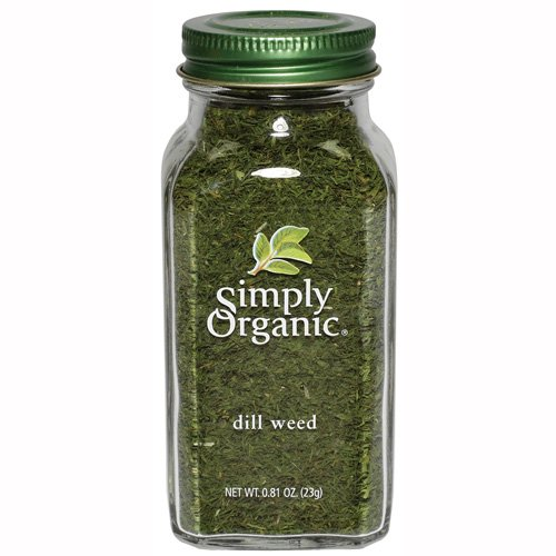 Simply Organic Dill Weed Cut and Sifted Certified Organic 0 81 Ounce Containers Pack of 3