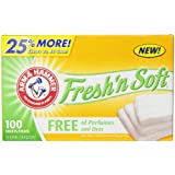 Arm & Hammer Fresh 'N Soft Fabric Softener Sheets, Free, 100 sheets