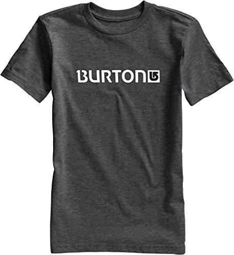 Burton - Maglietta da ragazzo con logo orizzontale e maniche corte, Ragazzo, T-Shirt Logo HRZ Short Sleeve, Charcoal, 10-12 Jahre (M)