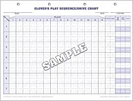 Glover's FB-301 Football Drive Chart Pad (30 Charts/Pack)