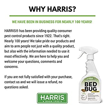 Harris Natural Bed Bug Killer, Fast Acting 20oz Non-Toxic Spray with Extended Residual