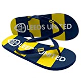 Leeds United F.C. Flip Flops Adult size 10Flip Flops , shoe size 10 (uk) 44 (eu) , rubber grip sole , on a header card , official licensed product
