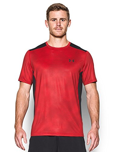 Under Armour Men's Raid Short Sleeve T-Shirt, Red (604), X-Large
