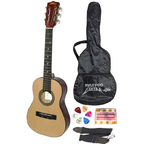 "Pyle-Pro PGAKT30 30"" Inch Beginner Jamer, Acoustic Guitar w/ Carrying Case & Accessories"