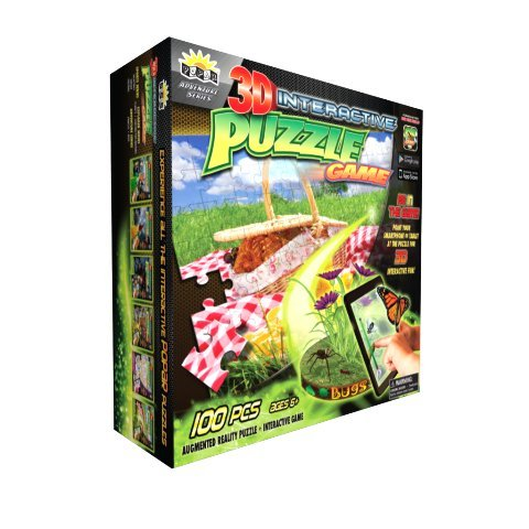 3D Interactive Puzzle Game Bugs 100 Pieces