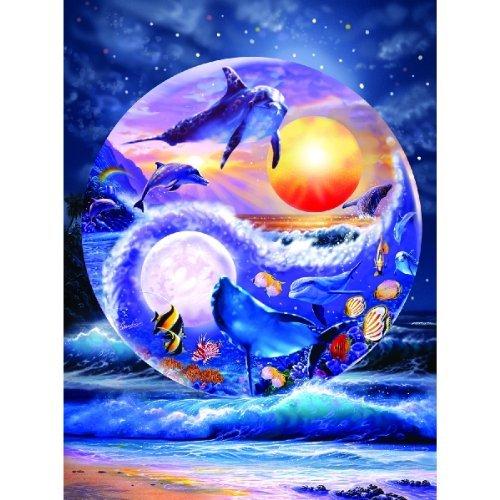 Cheap SunsOut Yin & Yang Dolphins 1000pc Jigsaw Puzzle by Steve Sundram (B003M6QP8U)