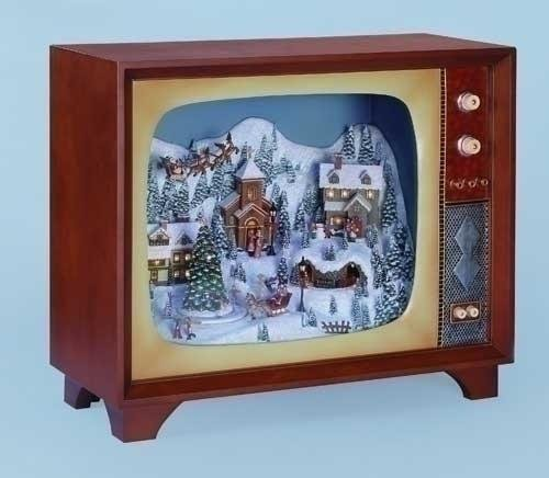 International Wholesale Gifts 0182Ds-32420 Mus 23.5 In. W Snow Scene Led Tv