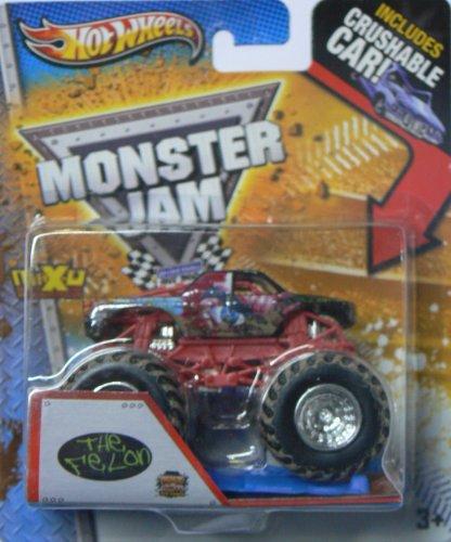 2013 Hot Wheels Monster Jam Monster Truck - The Felon with Crushable Car!