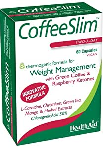 Health Aid CoffeeSlim - Green Coffee Bean Extract - 60 Vegan Capsules