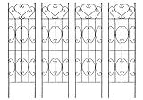 お庭をエレガントに彩るIBフェンス ハート 高さ180cm×幅50cm Lサイズ 4枚セット ブラック F606LX2