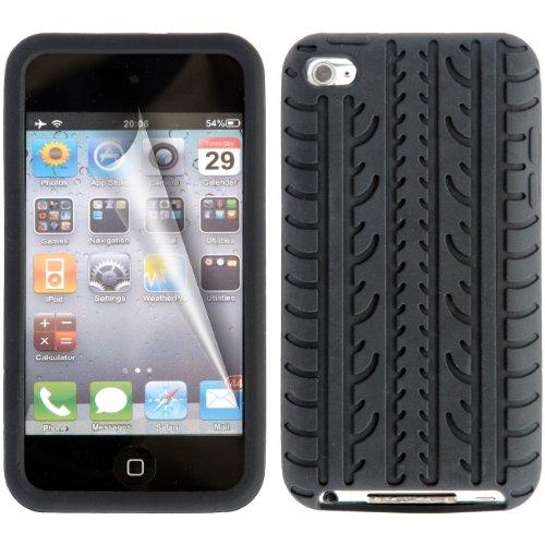 Gadgeo Black Tyre Tread Gel Silicone Case Cover