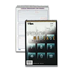 TOPS Voice Message Log Book, 2-Sided, 1-Part, 3 Messages per Page, 50 Pages, White, (44169)