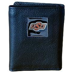 NCAA Oklahoma State Cowboys Genuine Leather Tri-fold Wallet