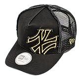 ニューエラ ディーフレイム トラッカー メッシュキャップ バタリオン ヤンキース ブラック/ゴールド 黒 NEW ERA ニューエラ NEWERA D-FRAME TRUCKER MESH CAP BATALION YANKEES(MLB) BLACK/GOLD 11120287 [メジャーリーグ ヤンキース ニューエラ キャップ]