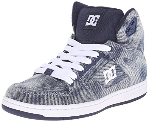 DC Women's Rebound High SE Skate Shoe, Denim, 7 M US