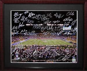 2011 New York Giants Team Signed Steiner SB XLVI Framed Photo-16x20