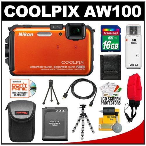 Nikon Coolpix AW100 Shock & Waterproof GPS 16.0