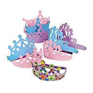 Foam Princess Tiaras Crowns Party Dre…