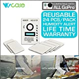 WoCase 24/Pack EXTRA Strong Reusable Anti Fog Inserts LIFETIME WARRANTY for GoPro HERO4 HERO3+ 3 2 1 Cameras 24/Pack