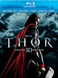 Thor [Blu-ray 3D + Blu-ray + DVD + Digital Copy] (Bilingual)