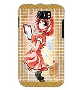 PrintDhaba Fantasy Girl D-5680 Back Case Cover for MICROMAX A110Q CANVAS 2 PLUS (Multi-Coloured)