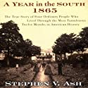 A Year in the South: 1865: The True Story of Four Ordinary People Who Lived Through the Most Tumultuous Twelve Months in History Audiobook by Stephen V. Ash Narrated by Neal Ghant, Nicholas Techosky, Jeremy Arthur, Teresa DeBerry