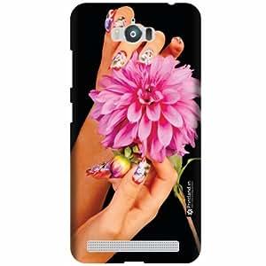 Printland Designer Back Cover for Asus Zenfone Max ZC550KL - Flower Case Cover