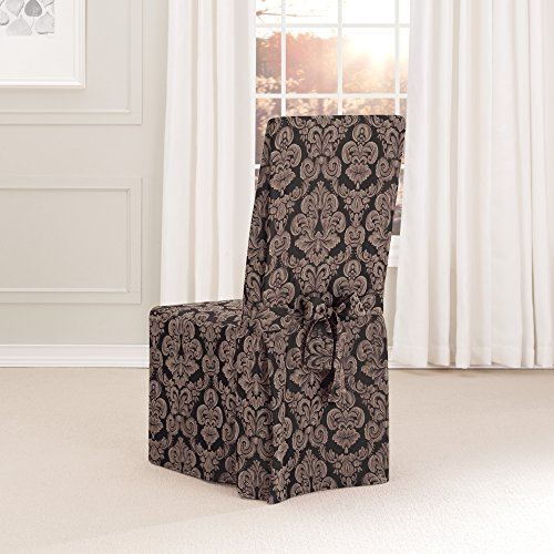 Sure Fit Middleton Full Dining Chair Slipcover, Black front-794472