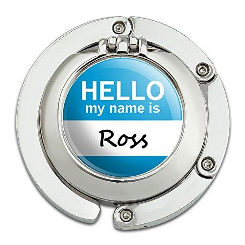 ross-hello-my-name-is-faltbare-tisch-tasche-geldborse-caddy-handtasche-aufhanger-halterung-haken-mit