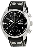 "Laco / 1925 Men's 861715 ""Laco 1925 Pilot Classic"" Stainless Steel Automatic Watch with Black Leather Band"