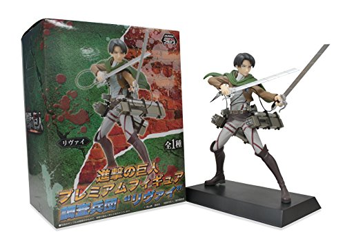"Sega Attack on Titan Premium Survey Corps 7"" Levi Ackerman Action Figure"