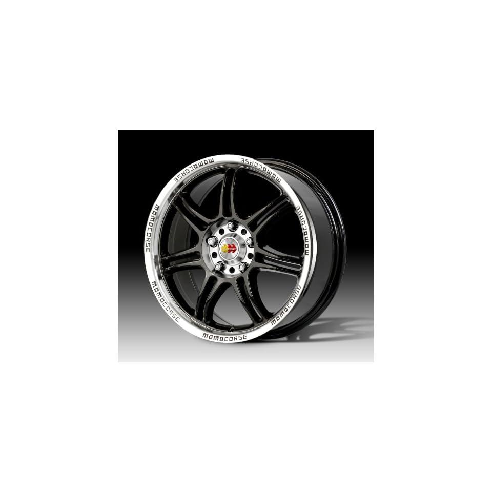MOMO Car Wheel Rim   RPM   Black   17 x 7.5 inch   4 on 100 / 4 on 114.3   42 mm offset   Part # RP75741442B