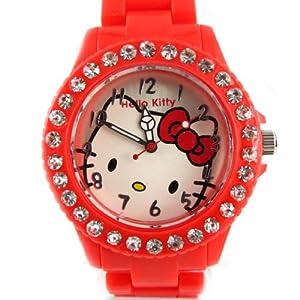 Watch design 'Hello Kitty'red.