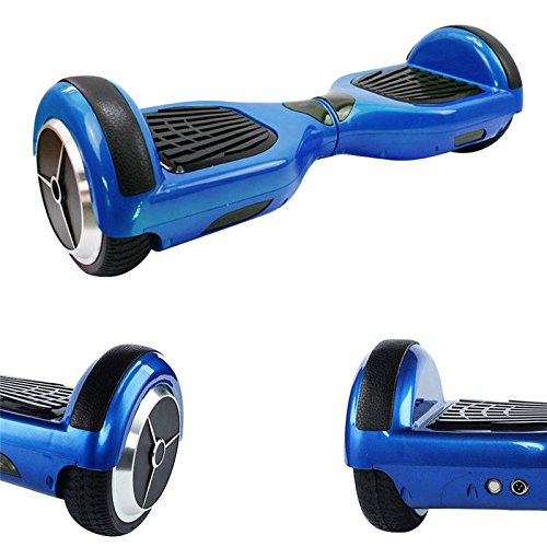 2 Wheel Hoverboard Self Balancing Electric Scooter Balance Hover Board Swegway with Bluetooth & Remote (Blue)