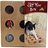 【 猫 用 おもちゃ 】 ころころ ボール ボックス 木 製 ねこ じゃらし 器 運動 不足 ストレス 解消 【I.T outlet】 MI-CATTOYB