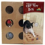 【 猫 用 おもちゃ 】 ころころ ボール ボックス 木 製 ねこ じゃらし 器 運動 不足 ストレス 解消 【I.T outlet】 MI-CATTOYB COM-SHOT