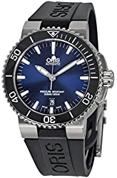 Oris Aquis Date Dark Blue Dial Black Rubber Mens Watch 733-7653-4135RS