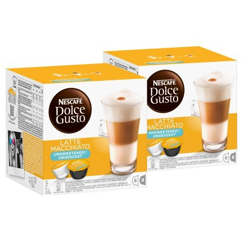 Nescafé Dolce Gusto Latte Macchiato Unsweetened, Pack Of 2, 2 X 16 Capsules (16 Servings) front-1005179