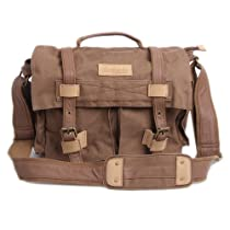 "MOACC BBK Series DSLR Slr Camera Canvas Shoulder Bag Backpack Rucksack Bag for Sony Canon Nikon Olympus etc.--BBK4(40*18*33cm 15.8""*7.1""*13.0"")Brown"