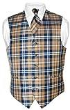 Men's Plaid Design Dress Vest NeckTie…