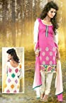 Strollay Pink Women - Dress Material