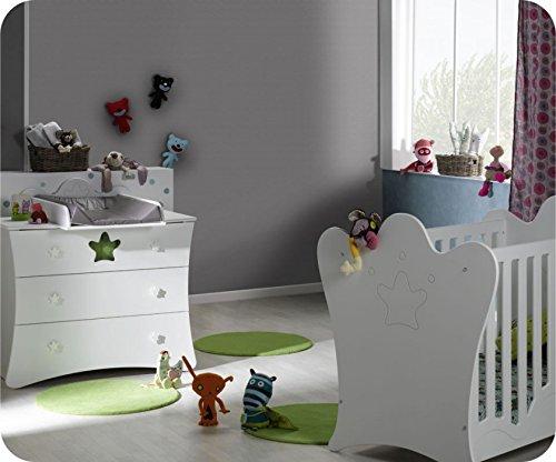 Mini Babyzimmer Petit Roi weiß mit Wickelfläche günstig online kaufen