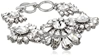 "Carolee LUX ""Haute Hollywood"" Floral Link Bracelet, 8"" by Carolee LUX"