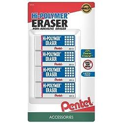 4-Pack Pentel Hi-Polymer Eraser